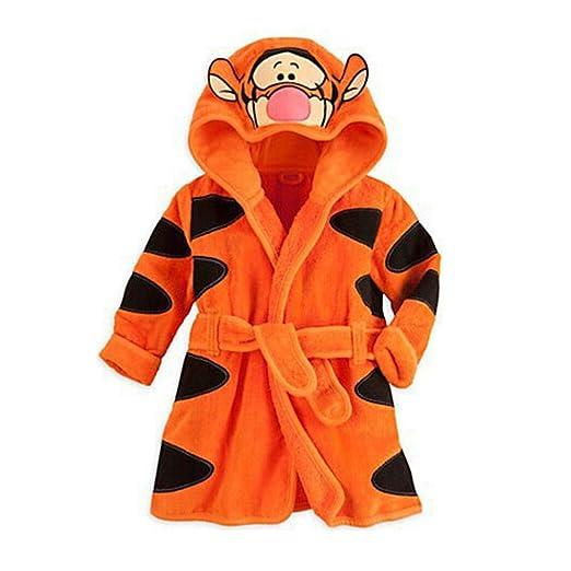 AFFEco - Albornoz con capucha para niños, diseño de animales, toalla de playa,