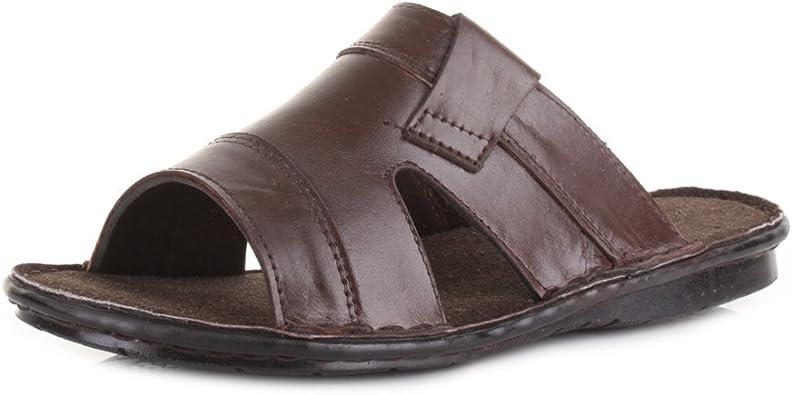 black slip on summer sandals for men