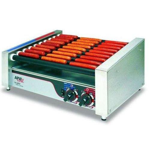 APW Wyott Slanted HotRod Hot Dog Roller Grill, 11 1/4 x 17 1/4 x 18 5/8 inch -- 1 each.