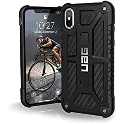 UAG iPhone X Monarch Feather-Light Rugged [CARBON FIBER] Military Drop Tested iPhone Case