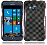 Plastic Carbon Fiber Hard Cover Snap On Case For Samsung ATIV S Neo i800 (StopAndAccessorize)
