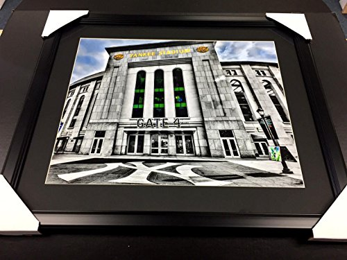 NEW YORK YANKEES YANKEE STADIUM ARTWORK 16x20 Framed Photo - MLB Autographed Miscellaneous -