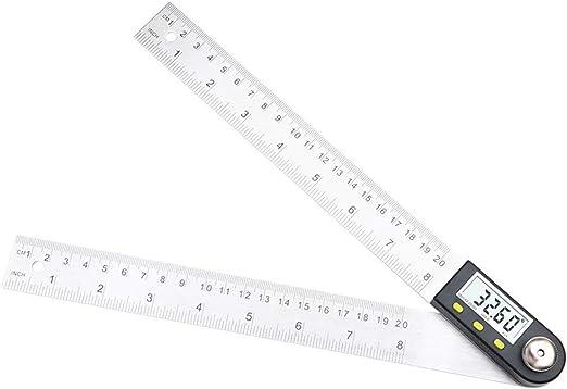 QuiCi 2 in 1 Digital Angle Ruler Digital Angle Gauge 360 Degree LCD Digital 200mm Electronic Digital Protractor Angle Finder Meter Ruler Measurer