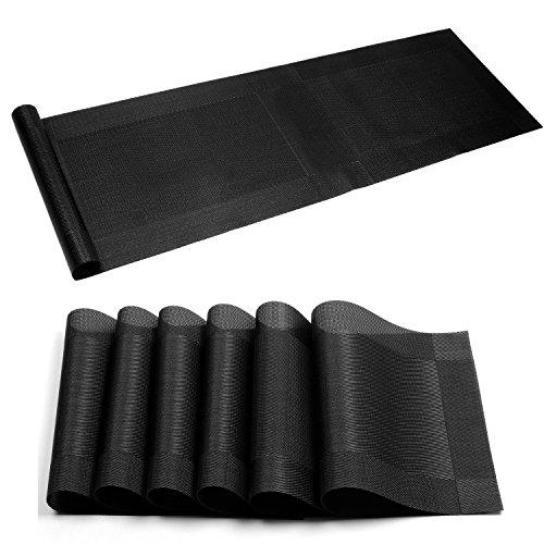 Placemat,U'Artlines Crossweave Woven Vinyl Non-slip Insulati
