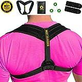 Posture Corrector for Women Men - EFFECTIVE, DISCREET, COMFORTABLE Braces, EASY ADJUSTABLE Upper Brace, Better BACK PAIN RELIEF, Shoulder Support, Scoliosis Hunchback Straightener, Fits 32-50'' (S,M,L)