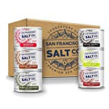 Stackable Salt Shakers – GRILL MASTER GIFT SET – Sriracha Sea Salt, Hickory Smoked Sea Salt, Herbs de Provence Sea Salt, Black Truffle Sea Salt, Chili Lime Sea Salt, and Smoked Cherrywood Sea Salt