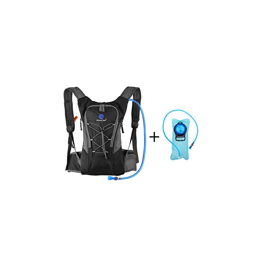 Hydration Pack Backpack with 2 Bladder,Lightweight Water Reservoir Bag Backpack for Cycling Mountain MTB Bike Hiking Camping