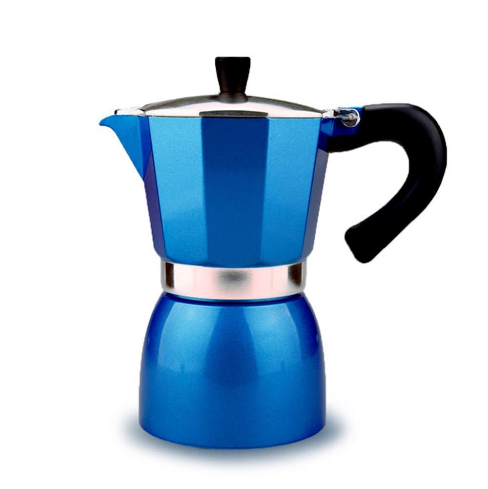 Máquina De Café Casera Cafetera Italiana De Café Expreso Mocha Café Con Leche Con Filtro (4 Tazas / 240 Ml),Blue: Amazon.es: Hogar