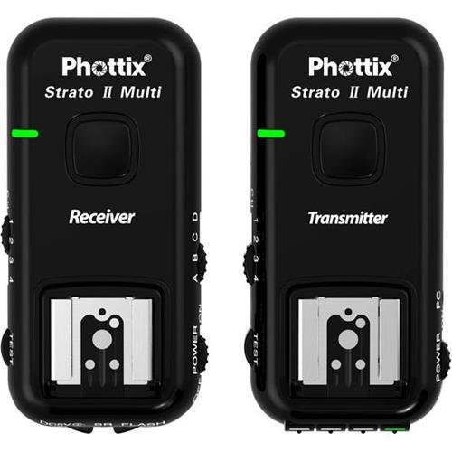 Phottix Strato II Wireless Flash Trigger Multi 5-in-1 Set for Canon - Transmitter and Receiver (PH15651) by Phottix