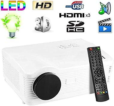Proyector de vídeo Full HD 1080p LED, 3000 Lúmenes TV 3d hdmi 120 ...