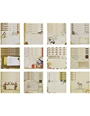 Penta Angel Mini Retro Envelopes 60pcs Small Vintage European Style Stationery Envelope Mailers Greeting Invitation Envelopes for Kids Craft DIY Project, 12 Different Style