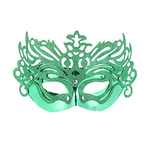 Costume Softball Princess (Vimans Sexy Green Mask for Cosplay Masquerade Ball Mask Venetian Princess)