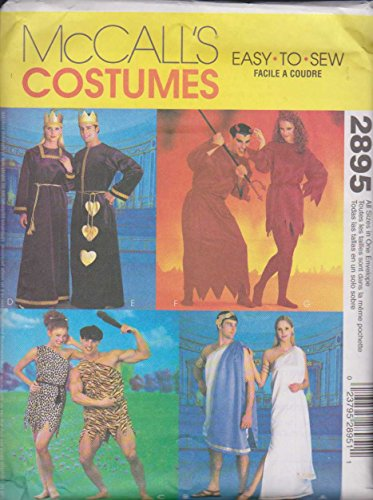 [McCall's 2895 Sewing Pattern Costumes Roman Cave King Queen Devils Bust / Chest 29 1/2 - 44] (Cave People Costume)