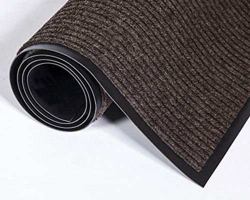 (Crown Needle Rib Wipe and Scrape Mat, Polypropylene, Brown (NR0035BR))