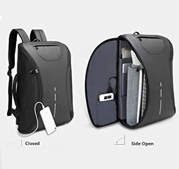 434470e14b Anti Theft Travel Laptop Backpack Bag Water Resistant with 2.0 USB Charging  Port Thief Safety Stylish Colour Black - Buy Anti Theft Travel Laptop  Backpack ...