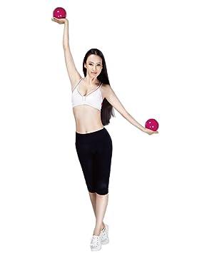 1 par ergonómico diseño suave pelotas de pesas mancuernas mano held - Balón de ejercicio casa Fitness ejercicio Yoga Pilates Ball Set para mujer Kids ...