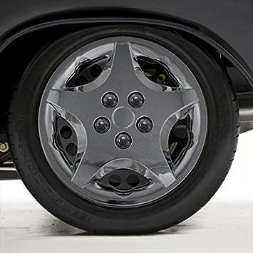 Juego de cuatro fundas para ruedas de 14 cm ABS cromado para 2000 - 2005 Chevy Cavalier (0,13 M): Amazon.es: Coche y moto