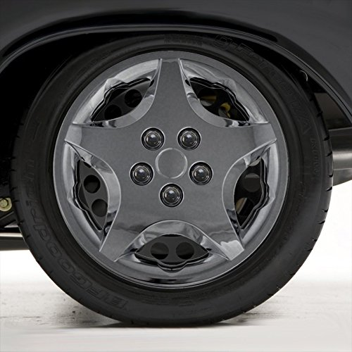 Upgrade Your Auto Set of Four 14' Chrome Hubcap Wheel Covers for 2000-05 Chevy Cavalier (Push-on)