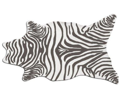 The Rug Market Zebra Grey Shaped Area Rug Size 5X8 SHAPED - Zebra 5x8 Area