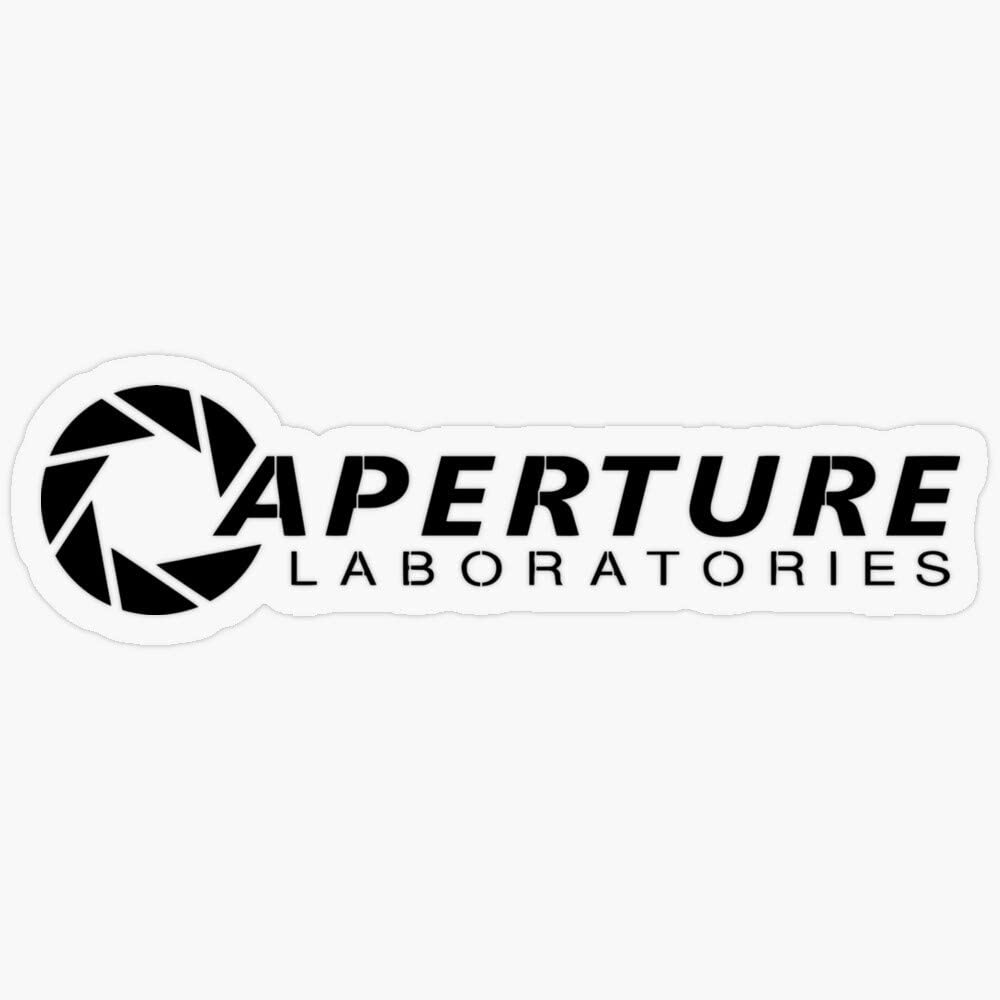 "Lplpol Stickers Aperture Laboratories Gift Decorations 5.5"" Vinyl Stickers, Laptop Decal, Water Bottle Sticker"