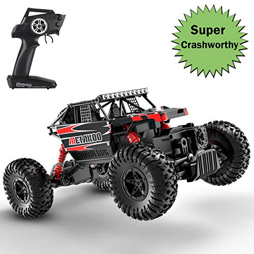 METAKOO RC Toy Car, CO1 4WD 1/18 Scale Improved Crawling Electric Car - 2 Batteries, Shock Absorption, Crashworthy, 2.4GHz, Replaceable Accessories, Adjustable Speed
