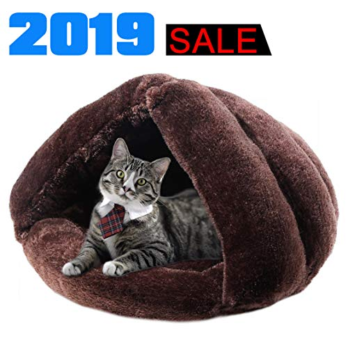 iphonepassteCK Plush Cat Bed Soft Pet Bed for Winter Cozy Sleeping Bag for Dogs Warm Puppy Bed Small Animals Cat Cave
