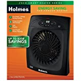 Holmes Energy Saving Fan-Forced Heater with Eco-Smart Technology - Black