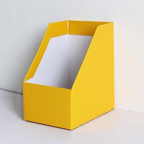 Titular de archivo Porta revistas, Archivadores de Cartón Corrugado con Etiquetas Adhesivas, Organizador de