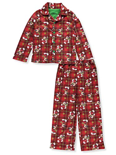 Disney Mickey Mouse Big Boys' 2-Piece Pajamas - red/Multi, 8 ()