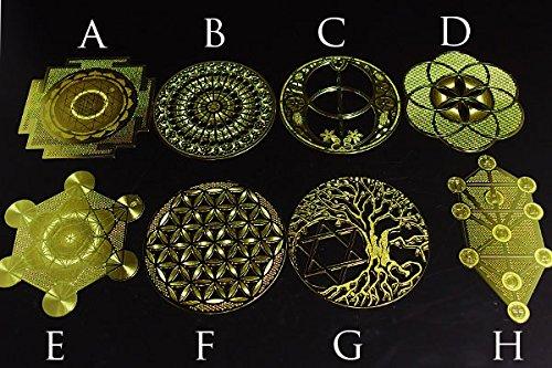 プレートすべてのセット古代神聖幾何学コンプリート8種類エナジーカード B01MDUU5J7