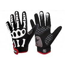 C-circle@Men Professional Gloves Winter Motorcycle Motorbike Gloves Full Finger Durable Slip-resistant Gloves bicycle Skeleton Bone