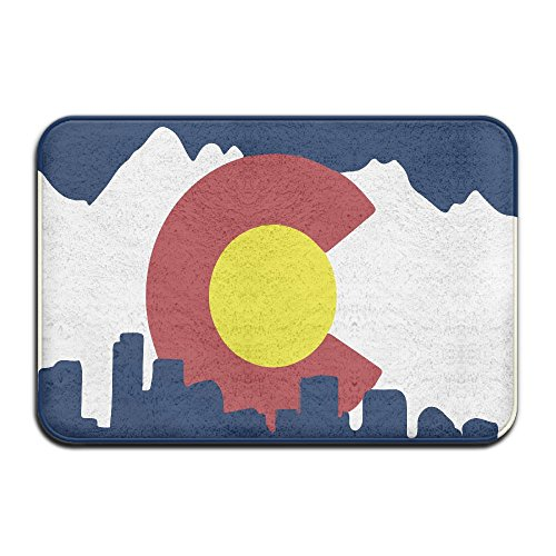Hhill Swater Non-slip Doormat Colorado State Flag Indoor & Outdoor Rugs Size 24