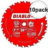 framing blades 10pack - Diablo D0724A 7-1/4 x 24T Carbide Framing Saw Blade 10-Pack