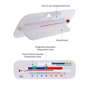 Twin Pack Refrigerator Thermometer For Fridge Freezer Chiller Cooler Temperature Gauge