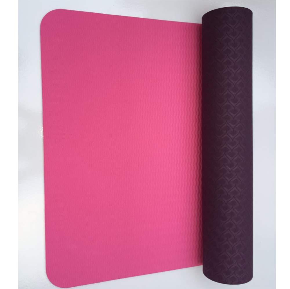 Sweety Sport-Yoga-Matte TPE Anti-Rutsch Sport Yoga Matte tragbaren 183  61  0.6 cm 2er Set