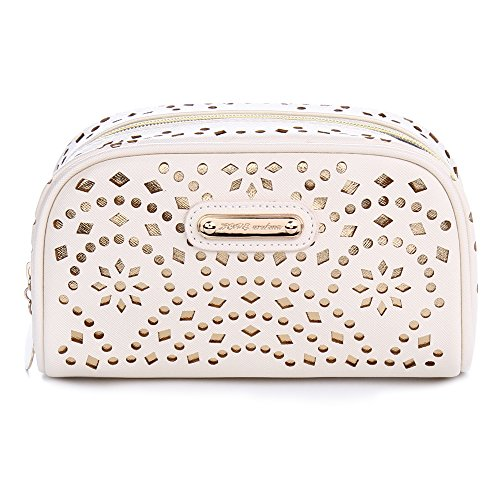 Cosmetic Bag Lipstick - Makeup Bag, Wuhua Gold Pattern Cosmetic Bag with Zipper, Toiletry /Travel Bag for Women, Single Layer Storage Bag for Brushes Jewelry Accessories Collection