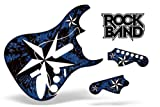 Rock Band Guitar Skin, Fits Xbox 360 / PS3 (Stratocaster Guitar) NorthStar – Blue, Best Gadgets
