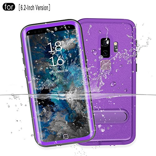 RedPepper Samsung Galaxy S9 Plus Waterproof Case[6.2-Inch], IP68 Certified Full Sealed Underwater Protective Cover, Shockproof, Snowproof, Dirtproof for Outdoor Sports (Purple)