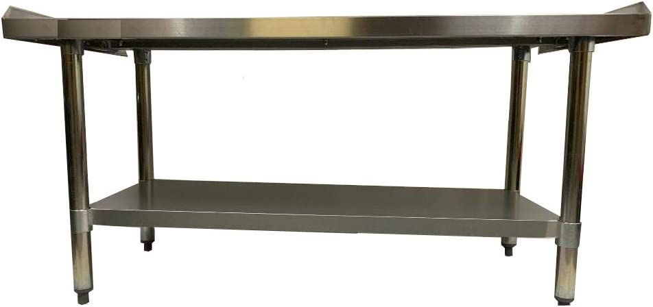 KPS Stainless Steel Rolling Working Equipment Grill Table Stand 30 x 60 with Wheels