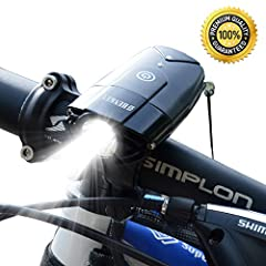 Be Seen by Everyone! See Everything Better! Enjoy Your Ride! Super Bright, IP65 Waterproof Lights Means They Always See You Coming This bike light projects super strong lumen beam ensuring your visibility as well as providing a capable li...