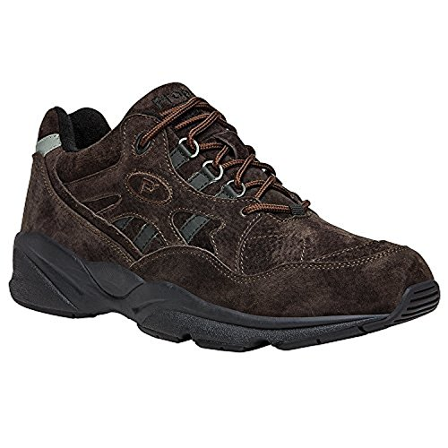 Propet Mens Stability Walker Shoe Brown Suede 15 X (3E) & Oxy Cleaner Bundle 9B7BQ1D