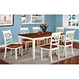 Furniture of America Cherrine Country Style Dining Table, Oak/Vintage White Review