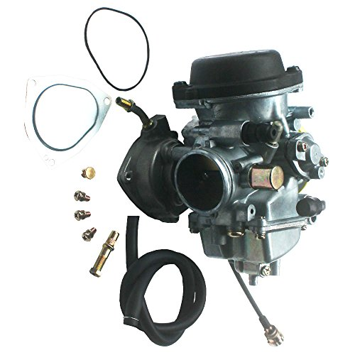 KIPA Carburetor For Suzuki LTZ400 LTZ 400 Quadsport 2003-2007 Arctic Cat DVX400 2004-2007 Kawasaki KFX400 2003-2006 with Vacuum Pipe (2003 Arctic Cat 500 Carburetor Rebuild Kit)