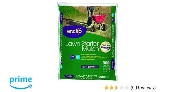 Amazoncom Encap 107414 Fast Acting Lawn Starter Seeding Mulch Kit