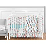 Sweet-Jojo-Designs-Multicolored-Feather-Print-Fitted-Crib-Sheet-for-Feather-Collection-BabyToddler-Bedding-Set