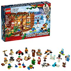 Give your child a fun way to get into the holiday spirit with the LEGO City 60235 Advent Calendar playset. It has 24 different buildable presents, one for each day of the season, including a snowmobile, snow fort, curling set, fireplace, rock...