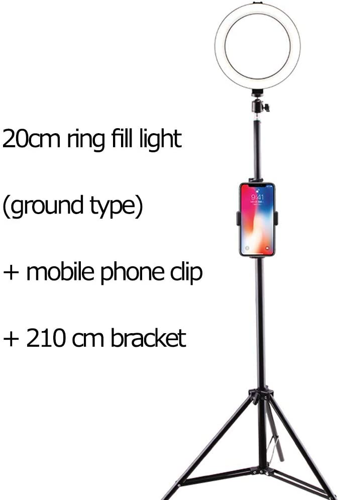 Video LED self-Timer Ring Light Makeup self Media Fill light LED Ring Light with Ring Bracket self-Timer Photography dimmable Desktop Makeup Ring Light for Photography