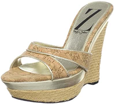 Sergio Zelcer Women's Marina Platform Sandal,Cork/Gold,10 M US