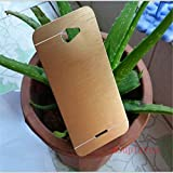 DENICELL Royal Brushed Metal Protective Back Case Cover For HTC DESIRE 516 (CANARY GOLD)