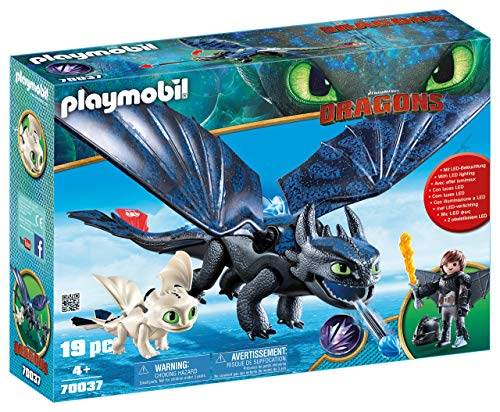 PLAYMOBIL How to Train Your Dragon III Hiccup & Toothless with Baby Dragon (Renewed) -